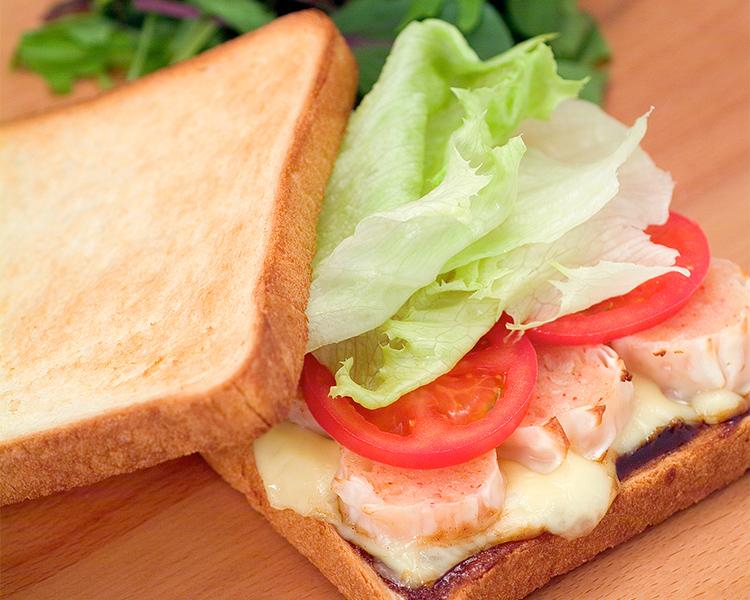 かにシュウマイとチーズのサンドイッチ