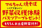 マルちゃん焼そば「野菜収穫体験バスツアープレゼント」キャンペーン