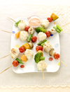 シュウマイと野菜のグリル