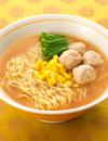 ふわふわ豆腐団子の味噌ラーメン