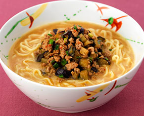 茄子の胡麻味噌担々麺