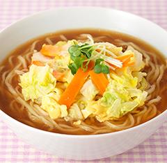 白菜の卵とじのせ 味噌ラーメン
