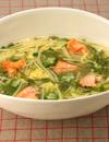 鮭とめかぶのスープスパゲティ