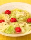 春キャベツのカレーワンタンスープ
