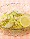減塩ソーセージとキャベツのレモンペッパーマリネ