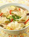 ザーサイときのこの中華ワンタンスープ