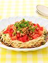納豆とトマトの冷し中華