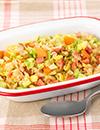焼豚と春野菜の玄米チャーハン