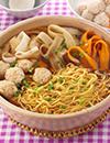 鶏団子と根菜のラーメン鍋