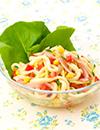 夏野菜とオリーブオイルのサラダうどん