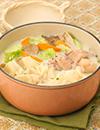 カット野菜とワンタンの豆乳鍋
